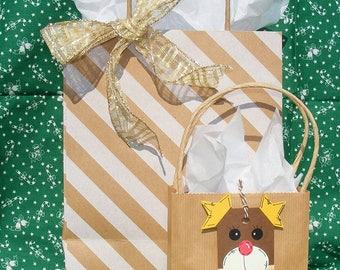 Reindeer Gift Tags (Handmade Set of 6)
