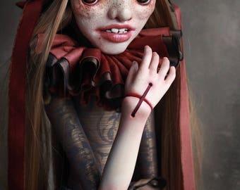 RAGNA - art doll - ooak - solf sculpture - porcelain - original art - figurative art - collectible doll - beautiful bizarre - curiosity