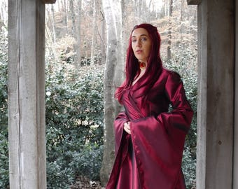 Game of Thrones Melisandre Red Priestess Costume, GOT Characters ...