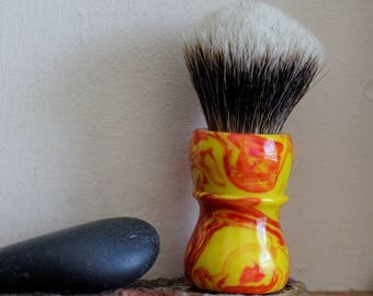 Shaving Brush - Hand-Made with Inferno Resin Handle and a Choice of Knots