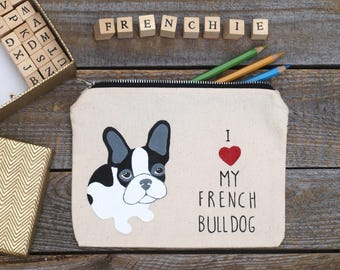french bulldog gifts, French Bulldog Pencil Case, decal, Personalized pencil case, frenchie pencil case, french bulldog decal, dog