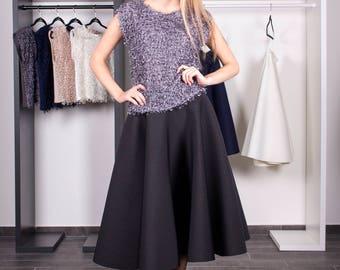 Black skirt–Skirt–Black–Womens clothing–Long skirt–Short skirt–Skirt with pockets–Midi skirt–Everyday skirt–Full-circle–Full-circle skirt