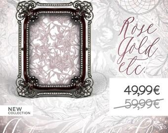 Fancy Jeweled Photo Frame, Gemstones Picture Frame, Burgundy Metal Frame, Gem Nuptial Frame, Marriage, Wedding, Baptism, Baby Birth, Nursery