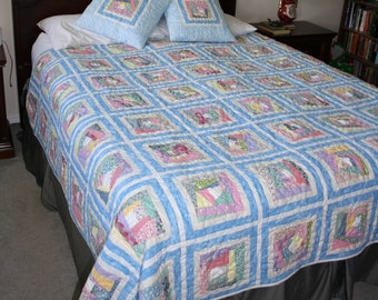 Faux Vintage Double Quilt with 3 pillow covers