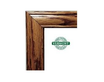 Honey OAK Natural Wood Picture Frame, Photo Frame, 100% Oak, Rustic, Classic Style, 1 1/4 in, 5x7, 8x10, 11x14, 16x20, 18x24 24x36 Custom