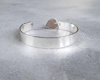 Sterling Silver Cuff Bracelet - Cuff Bracelet - Silver Cuff - Hammered Bracelet - Silver Bracelet - Hammered Cuff - Hammered Jewelry