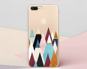 Mountains iPhone 7 Case iPhone X Case For Samsung Galaxy S6 Case iPhone 8 Case Cute iPhone 5 Case Clear Phone Case Hard Case S8 Case CG1529