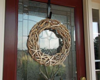 "19"" Driftwood Wreath-Natural Driftwood Wreath-Front Door Wreaths-Nautical Wreath-Coastal Wreath-Rustic Home Decor-Beach Decor"