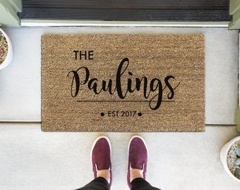 Custom Welcome Mat, Custom Doormat, Personalized Door Mat, Personalized  Doormat, Custom Door