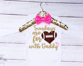 Football Onesie - Sundays Are For Football Shirt - Baby Girl football outfit  - Sundays Are For Football Onesie - Fall Is For Football Shirt