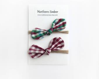 Top Knot Headband / Nylon Headband / Knotted Headband / Headband Set / Toddler Headband / Christmas Headbands / Baby Headbands / Knot Bow