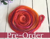 PRE-ORDER Hand Dyed Tatting Thread - Your Choice of Thread Thickness - Red , Orange , Purple  - Saffron