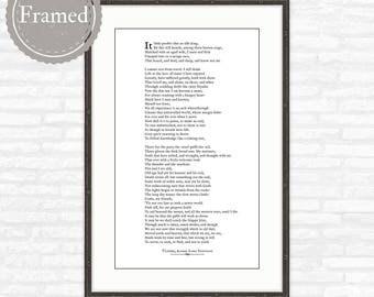Framed Poem Print, Ulysses, by Alfred Lord Tennyson