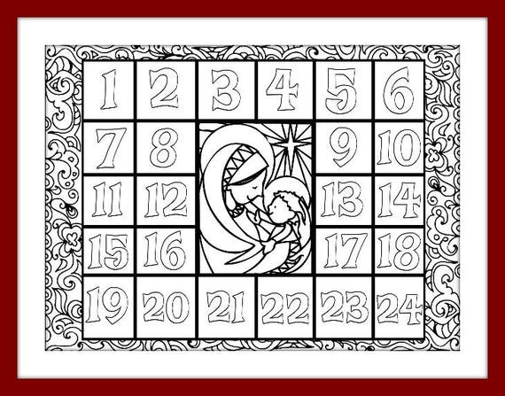 advent coloring pages for adults - photo#36