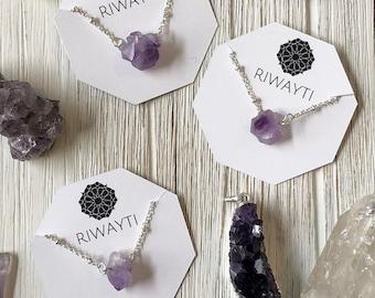 Dainty Amethyst Necklace, Raw Amethyst Necklace, Delicate Amethyst Necklace, February Birthstone Necklace, Small Amethyst Necklace, Rough