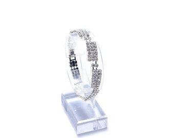 Gold Crystal  Bracelet, Rhinestone Bracelet,Crystal Bracelet, Wedding Bracelet, Prom Bracelet