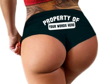 Custom Property Of Panties Personalized With Your Name - Customized Womens Underwear