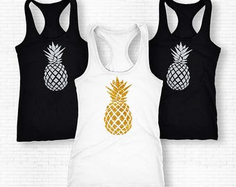 Pineapple Shirt, Pineapple Tank Top, Pineapple Tank Top Fruit Shirt, Pineapple Tank, Pineapple Tee, Pineapple, Fun Shirt, Womens Tops