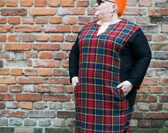 Plus size dresses,  Women's clothing, plus size maxi dress, wool dress, Large size dresses, 5X maxi dress, black dress, Plus size tunic