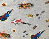 Jersey Kinderstoff Fräulein von Julie Superheld Superman fabric Junge Kinder Stoff