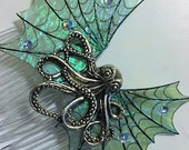 Hair Comb Fantasy Fairy Mermaid Pirate Gothic Octopus Wings