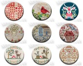Pick One QUILTS AND SAMPLERS Needle Nanny Minder Stitch Dots cross stitch notion BbD CcN Scarlett House Quilt Dots Vetmari Piece O' Cake