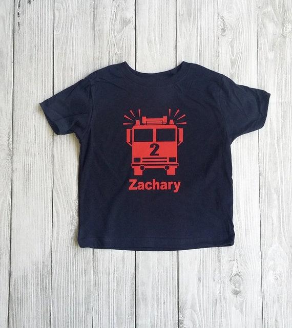 Firetruck Birthday Shirt Toddler Fire Truck 2nd Birthday Shirt