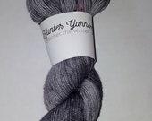 Hunter Yarns - Crochet the Winter in Sidewalk Calk Gray / Grey Fingering Weight Sock Yarn Knitting Destash / YARN DESTASH