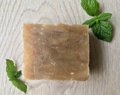 Moroccan Mint/ Small Batch Bar Soap/ Green Tea, Fair Trade Shea Butter, Olive Oil, Coconut Oil/ Palm-Free and Vegan Soap