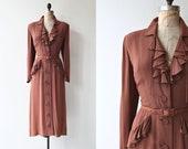 Tout Demain dress | vintage 1930s dress | rayon 30s dress