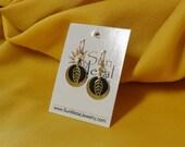 Black gold stainless steel earrings (Style #514)