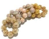 Baby, Toddler, Girls, Teen, Ladies All Bling Gold Sparkle Chunky bracelet - Champagne bracelet - Flower girl bracelet - Pageant bracelet