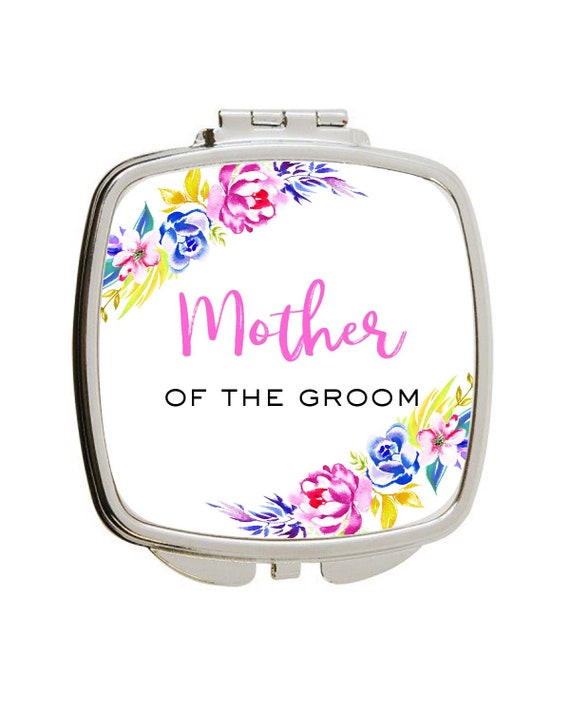 Wedding Party Gift For Mother Of The Groom Compact Mirror