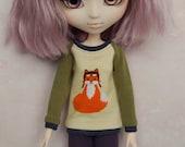 ElDollRado - sweatshirt sweater jumper blouse for Pullip, Dal, Blythe, Obitsu
