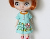 Reserved For MOON LY  / Middie Blythe Doll Outfit / Dress Socks / Blythe Clothes / OOAK Blythe / Dress