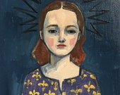 Oil painting portrait - Abby - Original art