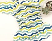 One Size Fitted Hybrid Cloth Diaper Chevron Multi-Color RTS