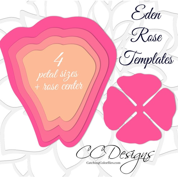 Giant paper rose templates diy large paper flowers printable pdf il570xn mightylinksfo