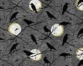 Elegantly Frightful from Northcott Studio - Full or Half Yard of Halloween Moons + Ravens