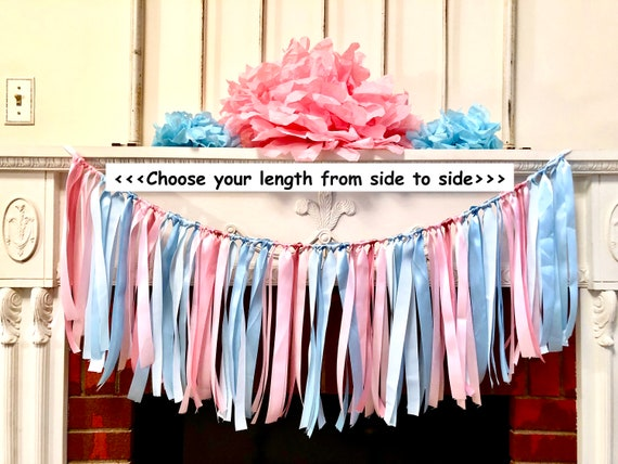 Pink Or Blue Baby Shower Decorations Buck Or Doe Banner Gender