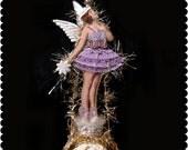 Victorian Christmas ornament.  Ballerina ornament.  Ballerina Christmas ornament.  Ballerina. Girl. Vintage. Victorian. Dancer.  BAL1806
