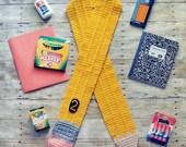 Crochet Pencil Scarf (Ready to Ship)