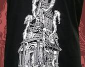 Haunted House Mens Tshirt - Unisex Halloween Ghost shirt -
