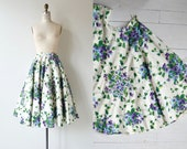 Forget Me Not skirt | 1950s circle skirt | floral print 50s skirt
