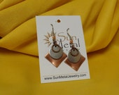 Copper and mirrors earrings (Style #473)