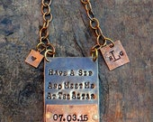 Have a Sip and Meet Me at the Altar!  CUSTOM PERSONALIZED Bottle Tag, Wedding Day Gift for Groom. Unique Idea for Groom's Gift. Keepsake