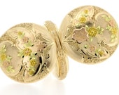 1902 year 14K Gold Tri-colored Flowers and Ferns Waltham Pocket Watch