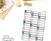 Midnight Floral Assorted Label Planner Stickers