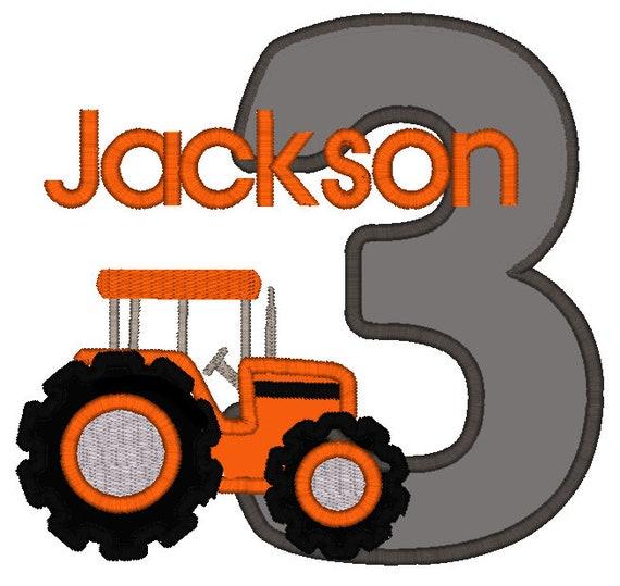 Greatstitch Red Tractor Birthday Shirt 1st