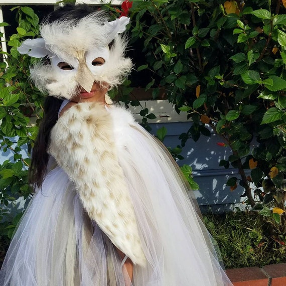 Il_570xn & SNOW OWL Costume Girls Halloween tutu halter dress mask shawl for ...
